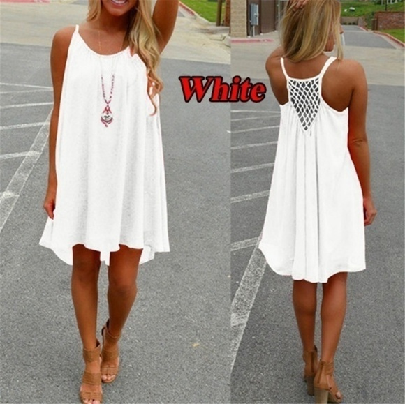 c709e37bfd3 Womens beach cover up or dress white. M 5ad241d372ea8822d74ac024